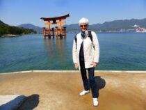 Flytande Toriigate i Japan