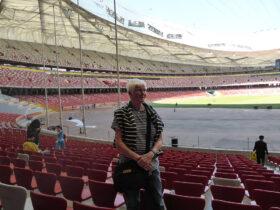 Rita på OS-arenan i Kina