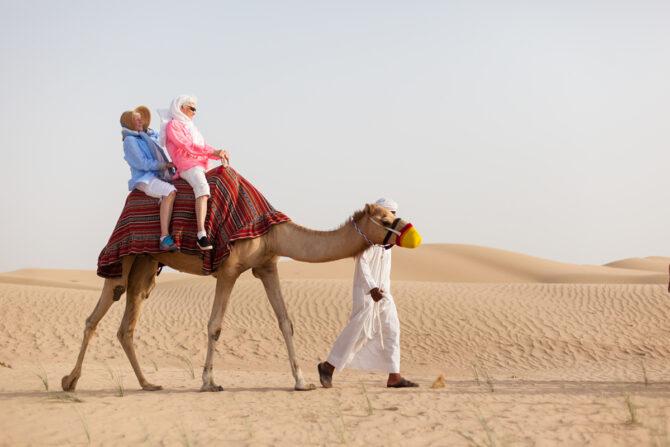 Rida kamel i öknen