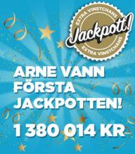 Arne från Luleå vann årets första Jackpott